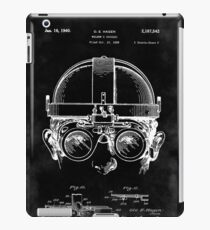 Vintage Steampunk Welding Goggles Blueprint Patent Drawing iPad Case/Skin