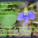 My Sincere Condolences... by Deb  Badt-Covell