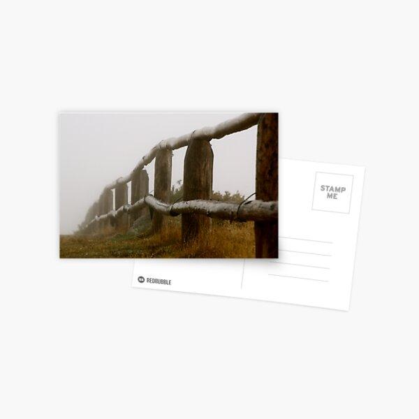 Fencing Away Postcard