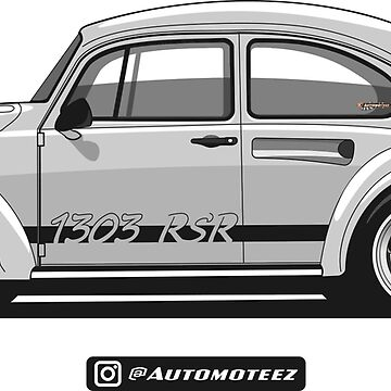 Classic Silver Custom Bug Unisex T-shirt for Men Women German Car Clothing Gift by Automoteez