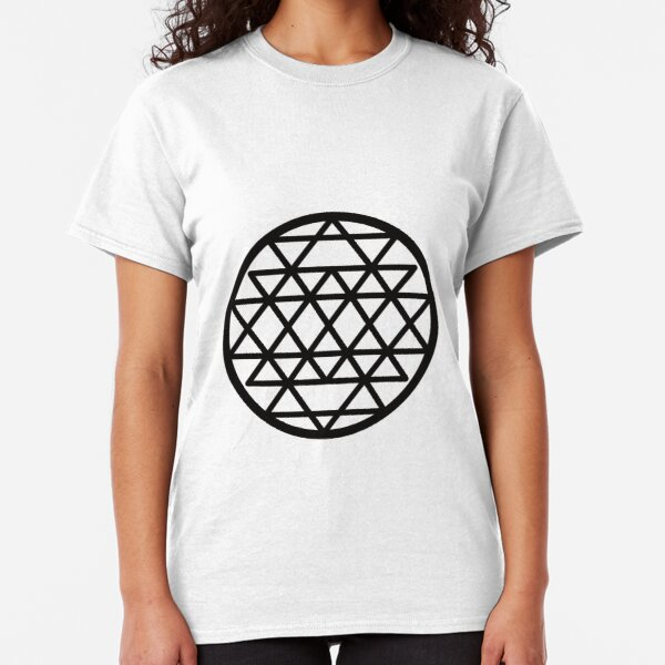Three Yantra - Black Classic T-Shirt