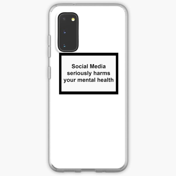 Social Media seriously harms your mental health Samsung Galaxy Soft Case