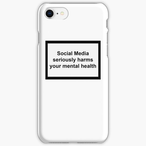 Social Media seriously harms your mental health iPhone Snap Case