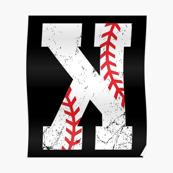 Baseball Pitcher Strikeout K Poster