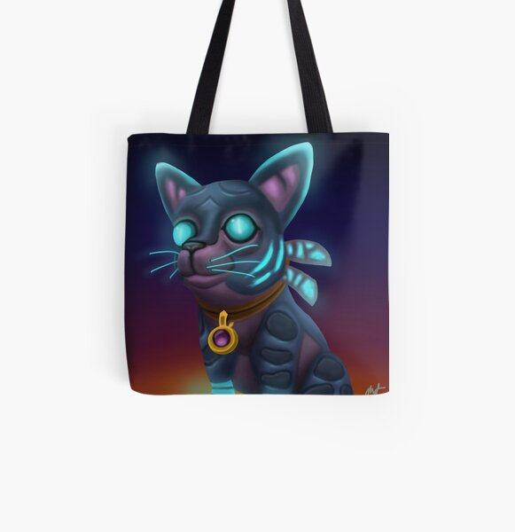 Twilight Kitten All Over Print Tote Bag