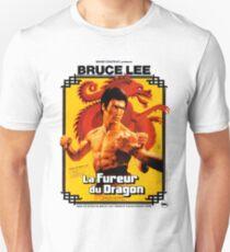 Camiseta unisex Camino del dragón Póster francés