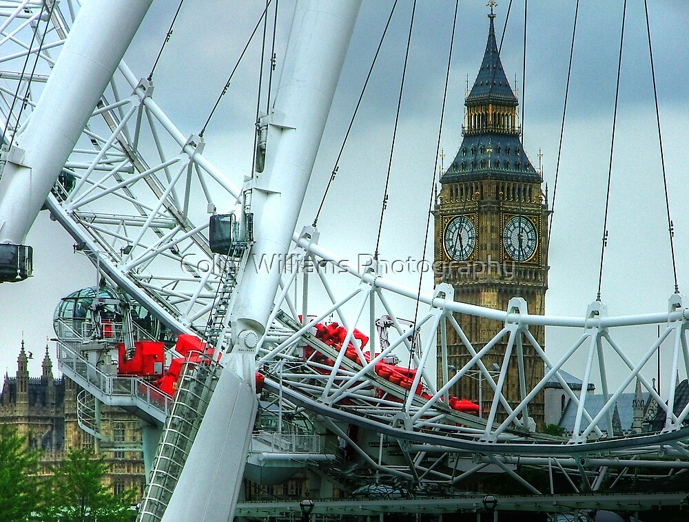 Big Ben Through The Eye by Colin  Williams Photography