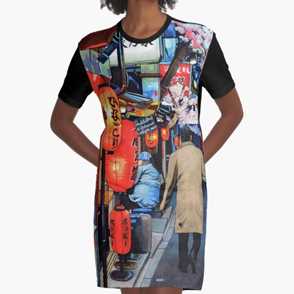 A Memory of Spring Graphic T-Shirt Dress