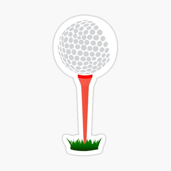 Golf Tee Sticker