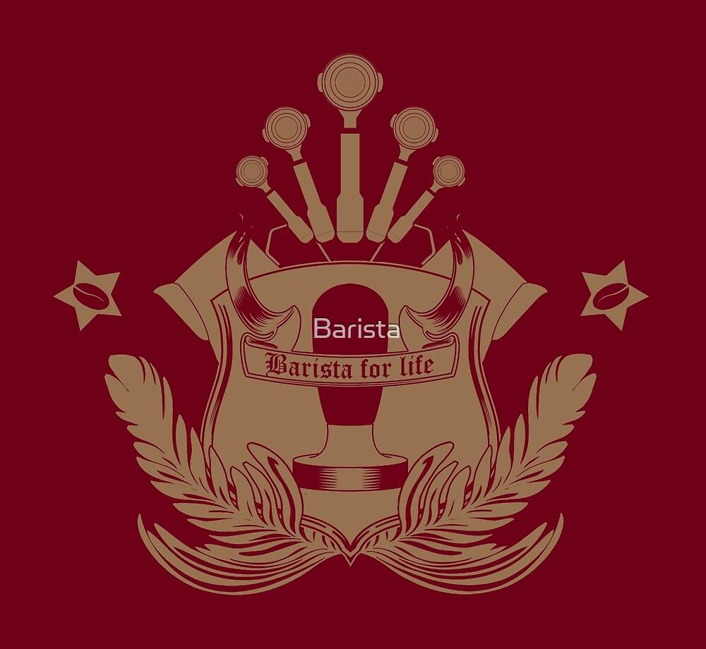 Barista Crest (darkt tees and hoodies) by Barista