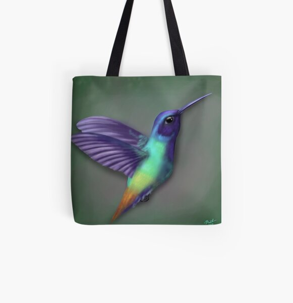 Hummingbird All Over Print Tote Bag
