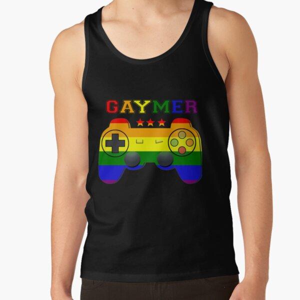Gaymer Gamer Gay Pride LGBT T shirt Lesbian Rainbow Flag Tee Tank Top