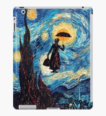 The Flying Lady with an Umbrella Oil Painting iPad Case/Skin
