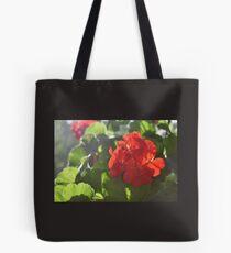 Red Flower Pattern Tote Bag