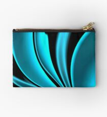 Abstract Fractal Colorways 02 Pacific Blue Studio Pouch