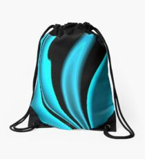 Abstract Fractal Colorways 02 Pacific Blue Drawstring Bag