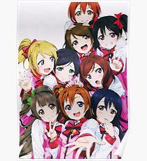 Love Live! School Idol Festival μ's Group Poster Poster