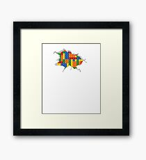 Lego hole Framed Print
