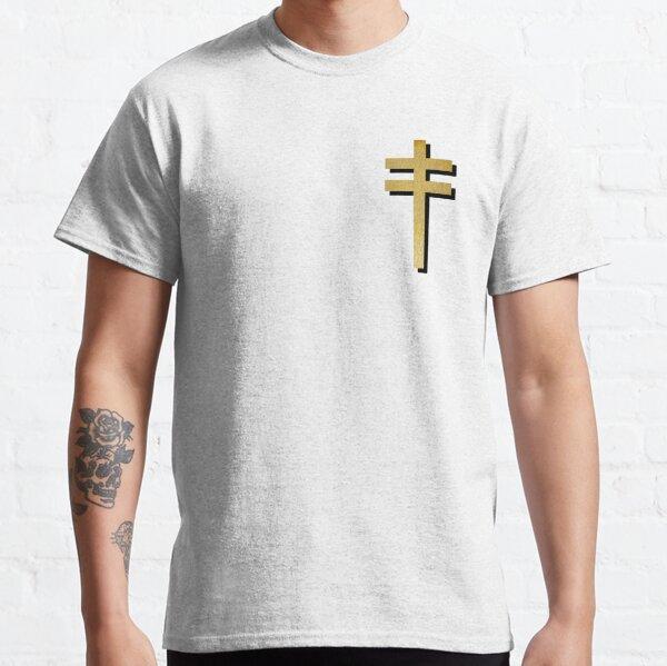 Frightened Rabbit Inspired Design - Frightened Rabbit Cross - Cross (WHITE BACKGROUND VERSION) Classic T-Shirt