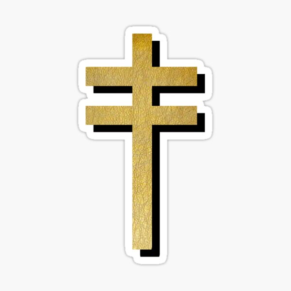 Frightened Rabbit Inspired Design - Frightened Rabbit Cross - Cross (WHITE BACKGROUND VERSION) Sticker