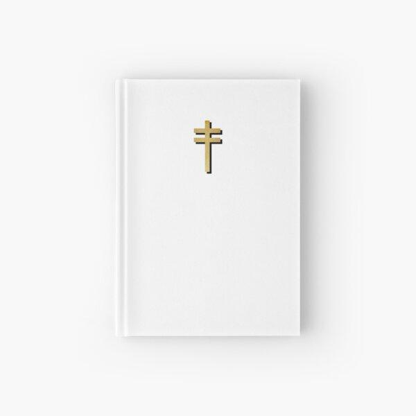 Frightened Rabbit Inspired Design - Frightened Rabbit Cross - Cross (WHITE BACKGROUND VERSION) Hardcover Journal