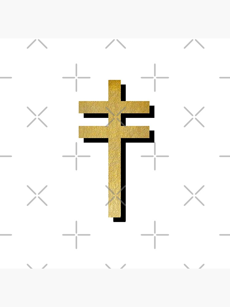 Frightened Rabbit Inspired Design - Frightened Rabbit Cross - Cross (WHITE BACKGROUND VERSION) by baileywillhite