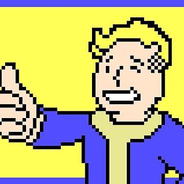 Vault Boy PixelArt by backdoorstore