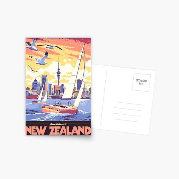 Auckland, NZ Postcard