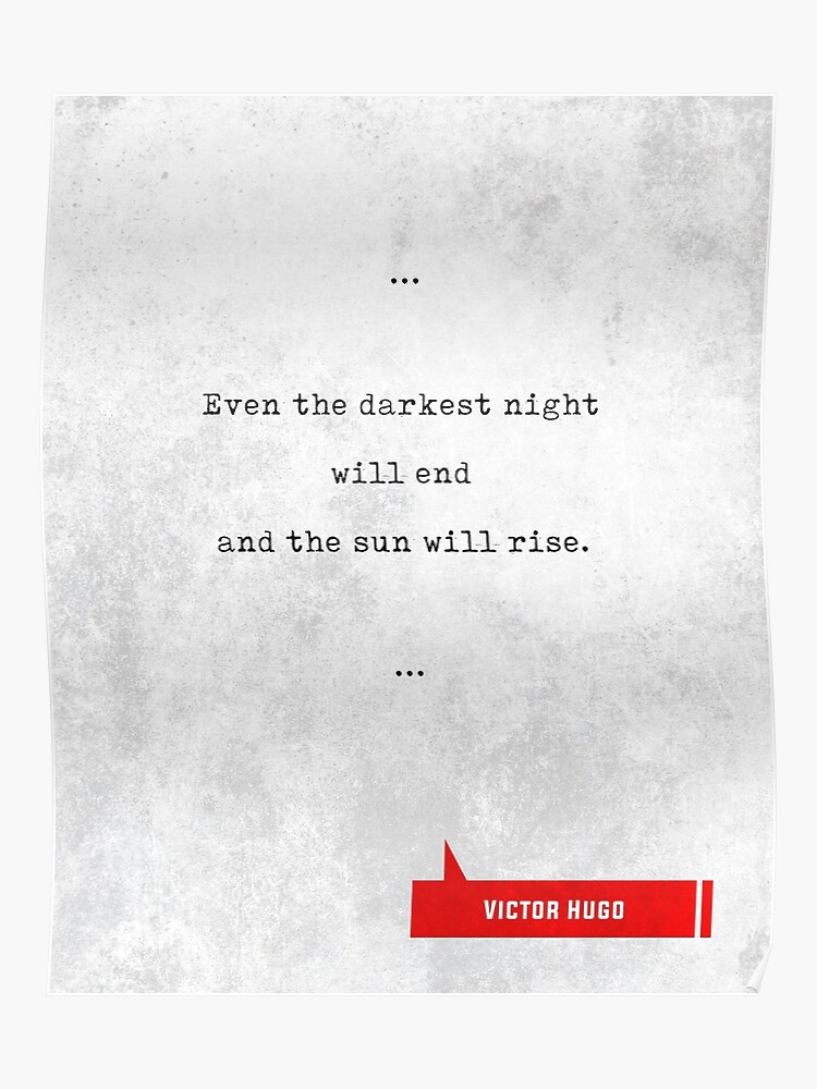 Citations De Victor Hugo Citations Littéraires Cadeaux D Amoureux De Livre Citations De Machine à écrire Poster