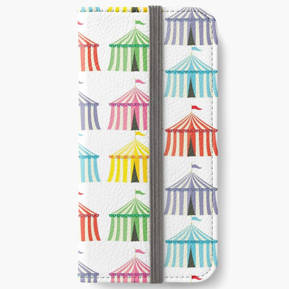 colourful circus tents iPhone Wallet
