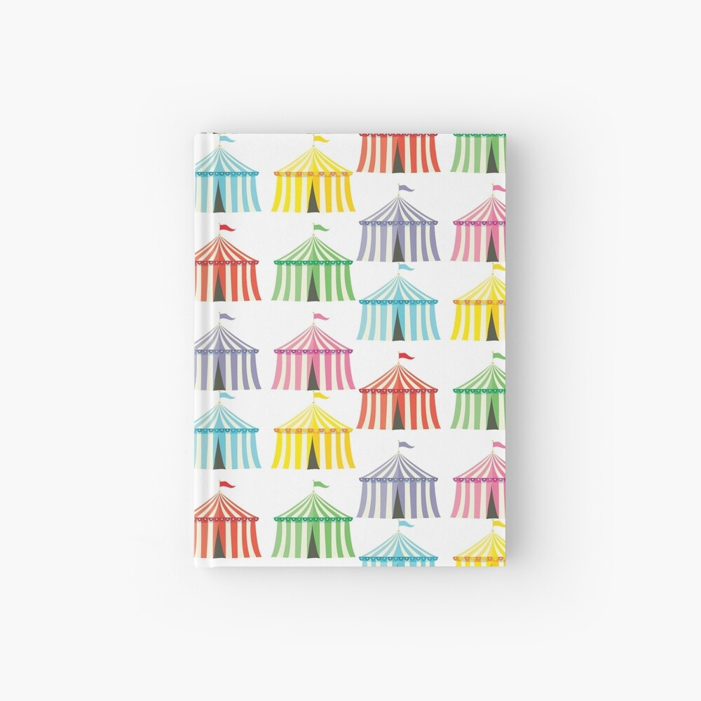colourful circus tents Hardcover Journal