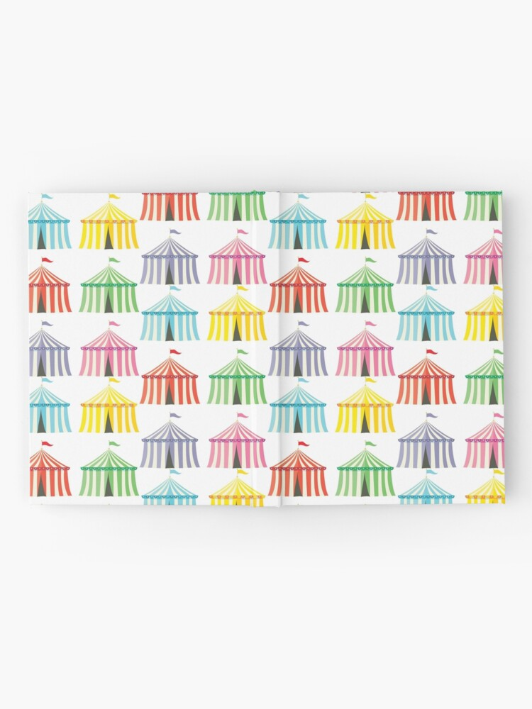 Alternate view of colourful circus tents Hardcover Journal