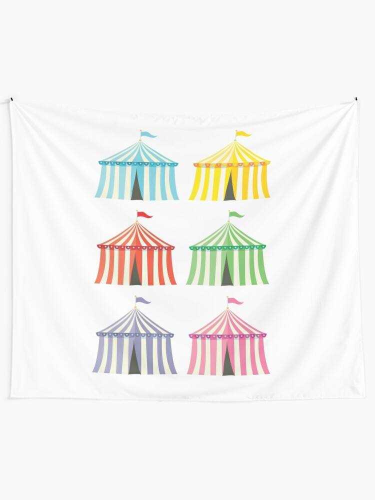 Alternate view of colourful circus tents Tapestry
