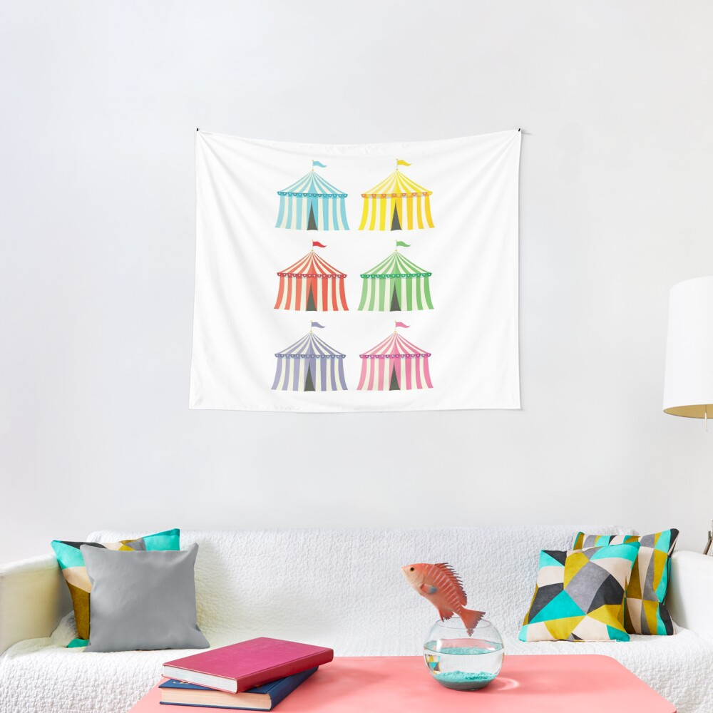 colourful circus tents Tapestry