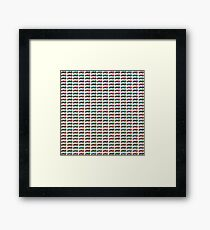 Pattern from colorful cars - toys Framed Print
