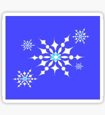 Happy Snowflakes for Winter Fun Sticker
