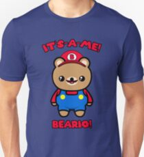 Cute Bear Funny Kawaii Mario Parody Unisex T-Shirt