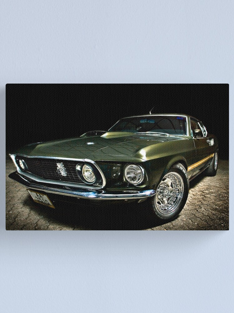 Alternate view of Mean Mustang! Canvas Print