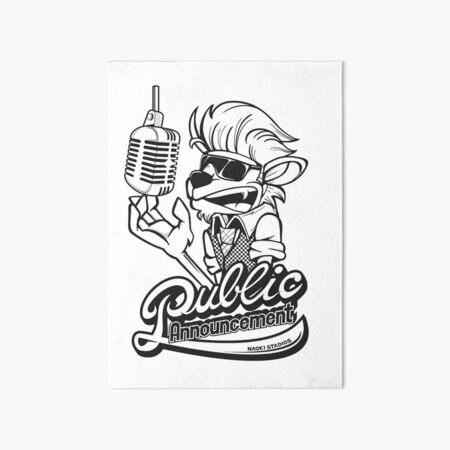 Public Announcement Art Board Print
