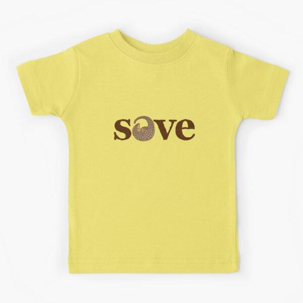Save Pangolins. Horizontal. Kids T-Shirt