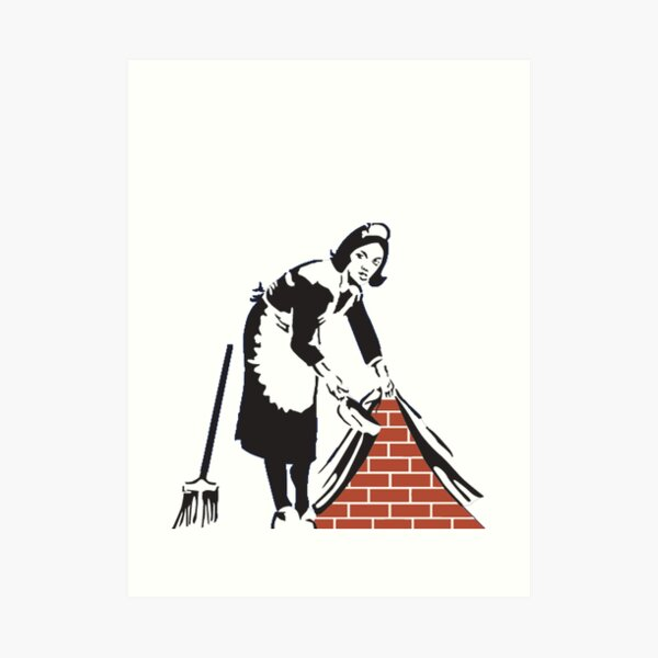 Banksy Sweep it Under the Rug! Art Print