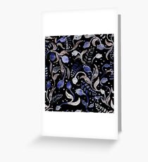 Watercolor pattern dark. Greeting Card