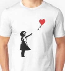 Banksy Letting Love Go! Balloon Girl!  Unisex T-Shirt