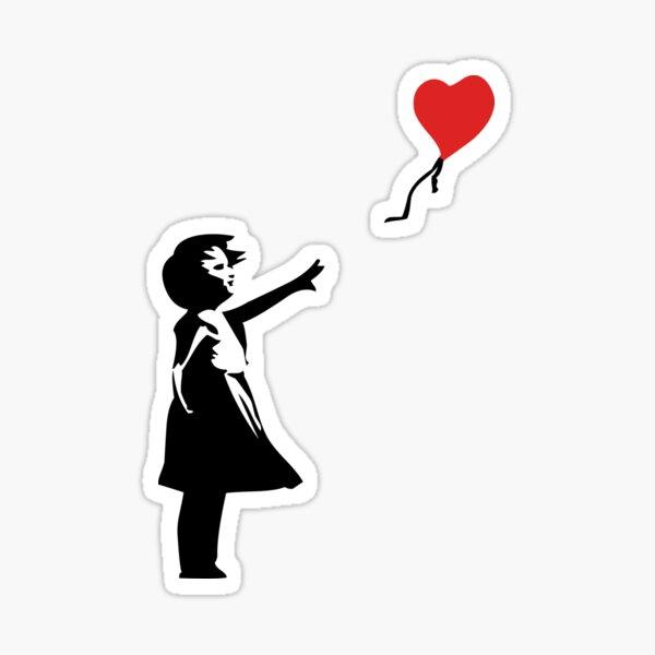 Banksy Letting Love Go! Balloon Girl!  Sticker