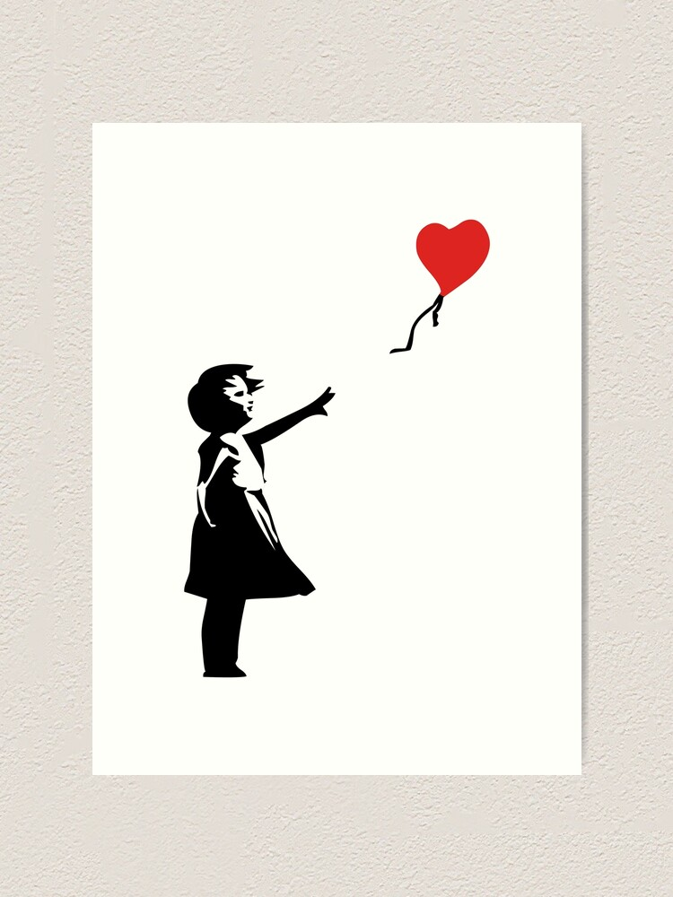 There is Hope 24 x 16 Banksy street art Graffiti Balloon Girl Canvas Print