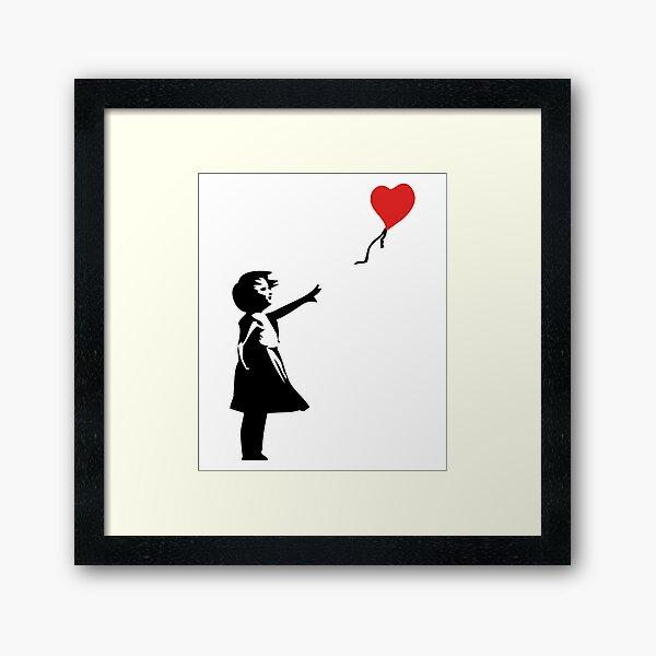 Banksy Letting Love Go! Balloon Girl!  Framed Art Print