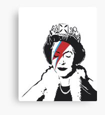 Banksy God Save the Queen  Canvas Print