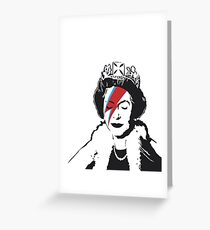 Banksy God Save the Queen  Greeting Card