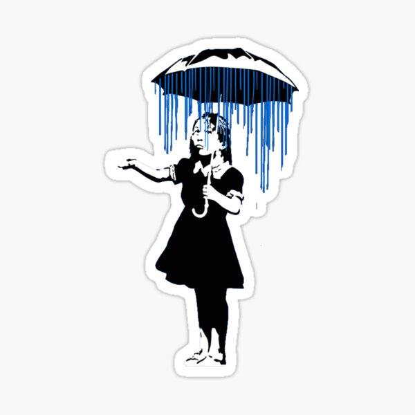 Banksy Raining on the Inside! Sticker