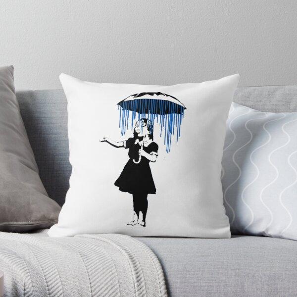 Banksy Raining on the Inside! Throw Pillow